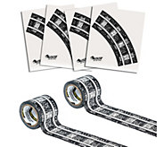 PlayTape Reusable Railroad Track and Curves Set - T127709
