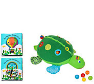 Melissa & Doug Turtle Ball Pit and Peekaboo Book Bundle - T128311