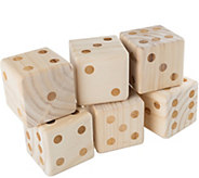 Hey! Play! Giant Wooden Yard Dice with CarryingCase - T128013