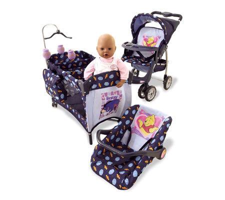 Winnie The Pooh Doll Travel System Set T111514 Qvc Com
