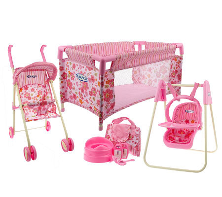 Graco Total Nursery Doll Furniture Playset W Accessories