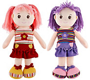 Set of Two Lollipop Kids 20 Soft Bodied Rag Dolls - T33316