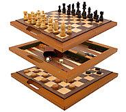 3-in-1 Deluxe Wooden Game Set - T127317