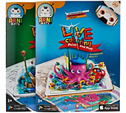 Set of Two Live Coloring Books w/ Interactive App & Games - T34230