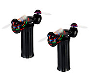 As Is Can You Imagine Set of 2 Spinning Light Show Wands - T137135