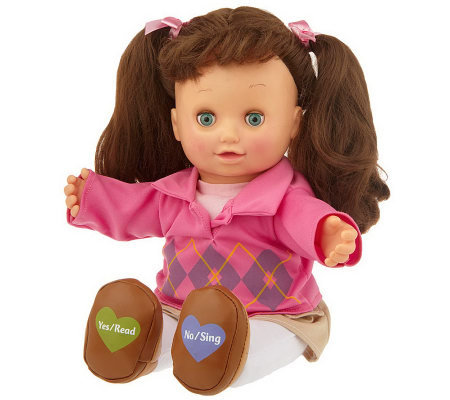 Read & Sing Allison Interactive 15&quot Doll w/ Storybook