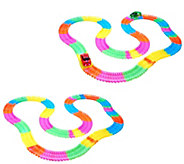Twister Trax S/2 Glow in the Dark Set w/ 360 Light-Up Vehicles - T33637