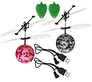 Set of Two Infrared Light Up Rebound Hovering Flying Spheres - T33540