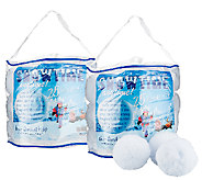 Set of Two 25-Count SnowTime Anytime Indoor Snowballs - T127643