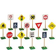 Guidecraft 7 Block Play Traffic Signs - T127945