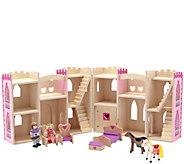 Melissa & Doug Fold & Go 9-Piece Princess Castle Set - T127847
