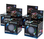 Set of 4 LED Light Up Poi Balls w/9 Light Settings & String - T34947