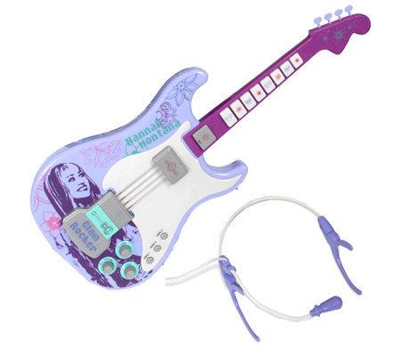 hannah montana electric guitar purple. Black Bedroom Furniture Sets. Home Design Ideas