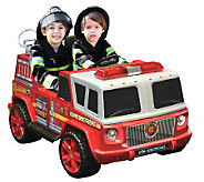 12V Two Seater Ride-on Fire Engine - T126052