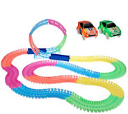 Twister Trax 360 15 Glow in the Dark Track w/ Two Light-Up Cars - T33454