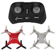 Rocket RC Set of 2 Indoor/Outdoor Stunt Drones - T34455