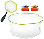 As Is Set of 2 Rechargeable Fish w/ Tank & Net - T137157