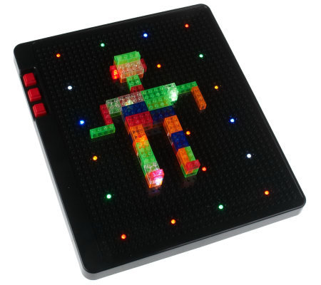 Illumination Table Top BlockBuilder w/ 200 Multi-Color Building Blocks