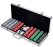 500 Dice-Style Casino-Weight Poker Chip Set - T127359