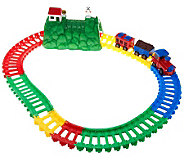 As Is Twister Trax 13 ft. Train Set with Remote Control Lighted Train - T137161