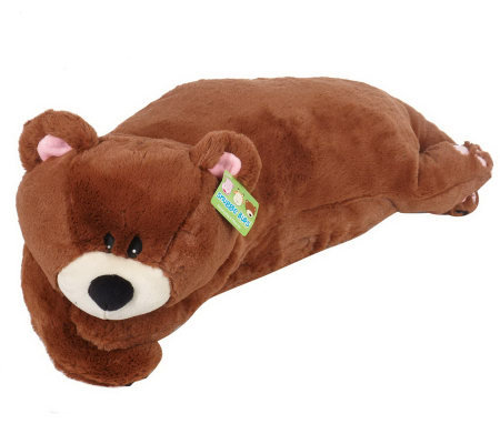 Animal Snuggle Pillows : Snuggle Bud 3-in-1 Sleep Sack, Pillow & Plush Animal - T29362 ? QVC.com