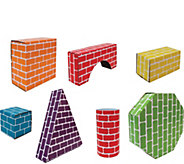 Edushape Corrugated Shapes- 45 Pieces - T128263