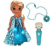 Disneys Frozen Sing With Me Elsa w/ Light-up Dress & Necklace - T33464