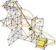 KNex Hyperspeed Hangtime Roller Coaster 628-Piece Set - T127367