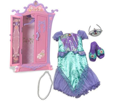disney princess ariel 39 s armoire with dress upset. Black Bedroom Furniture Sets. Home Design Ideas