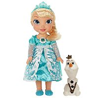Disney's Frozen Singing Elsa Doll with Light-up Dress and Olaf
