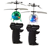Set of Two Light Up Levitating Spheres w/ Remote Control - T34172