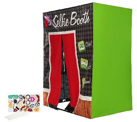 "Family Size 70"" Selfie Booth with Green Screen & Props"