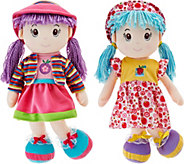 Set of Two Lollipop Kids 20 Soft Bodied Rag Dolls - T34273