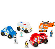 Melissa & Doug Emergency Vehicle Set - T127775