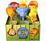 Educational Insights Puppet-on-a-Stick Zoo Crew, Set of 9 - T128183