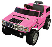 6V Pink Hummer Battery Operated Ride-On - T123184