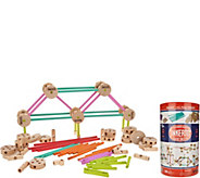 TinkerToy Deluxe 100 piece Wooden Building Set - T34890