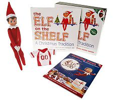 "The Elf on the Shelf"" A Christmas Tradition Book & Elf Gift Set"
