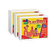 PlayBrix Cardboard Building Bricks-Set of 54 Assorted - T121293