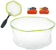 Set of Two Rechargeable Robotic Fish w/ Tank & Net