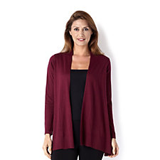 Knitted Waterfall Cardigan with Draped Front by Susan Graver