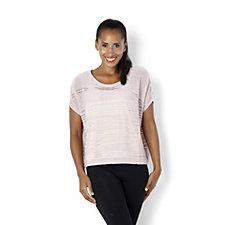 MarlaWynne Diagonal Stitch Dolman Sleeve Sweater with Cami