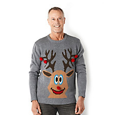 Absolutely Famous Men's Reindeer Christmas Jumper