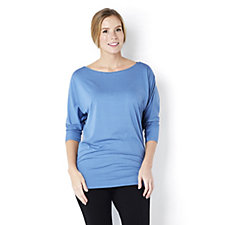 H by Halston Dolman 3/4 Sleeve Boat Neck Top