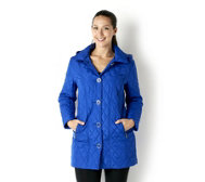Centigrade Quilted Coat with Detachable Hood