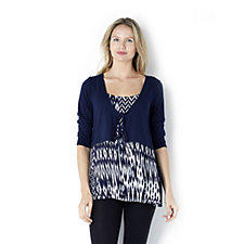Casual & Co Jersey 3/4 Sleeve Top with Shrug