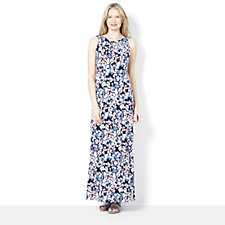 159500 - Kim & Co Printed Brazil Knit Regular Length Maxi Dress