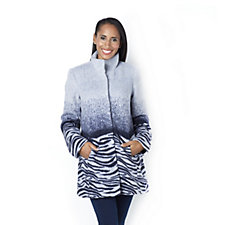Jeanne Beker Ombre Abstract Coat
