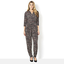 Kim & Co Brazil Knit V-Neck 3/4 Sleeve Jumpsuit