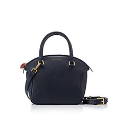 Lulu Guinness Small Bella Leather Grab Bag with Crossbody Strap